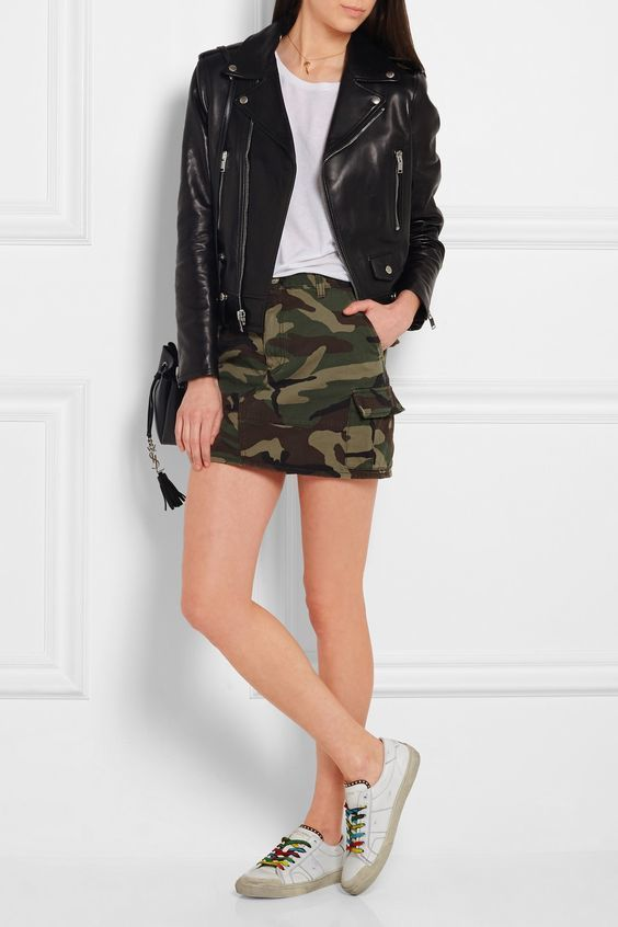 7de3bff628f5f How to Wear a Camouflage Skirt (3 looks & outfits) | Women's Fashion ...