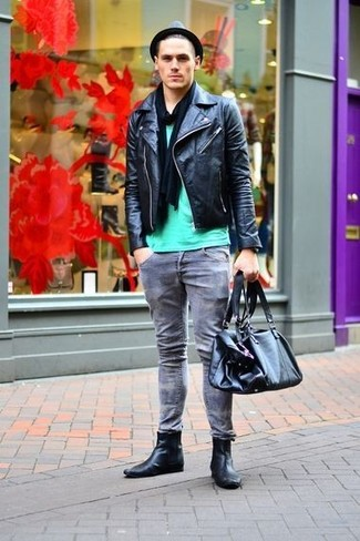 Black Leather Chelsea Boots | Men's Fashion