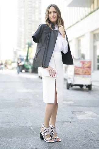 Piqu Virgin Wool Blend Pencil Skirt