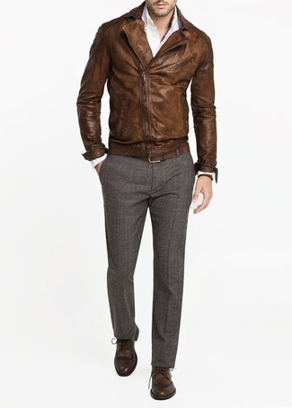 Brown Leather Belt Wdouble Keep