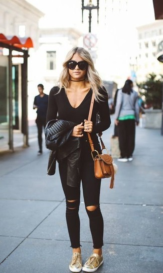 Edie High Waist Extreme Ripped Skinny Jeans In Black