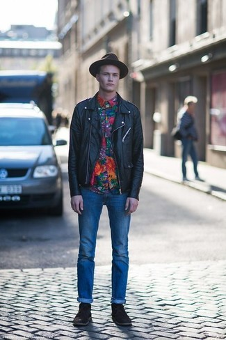How To Wear a Biker Jacket With Dark Brown Boots | Men&39s Fashion