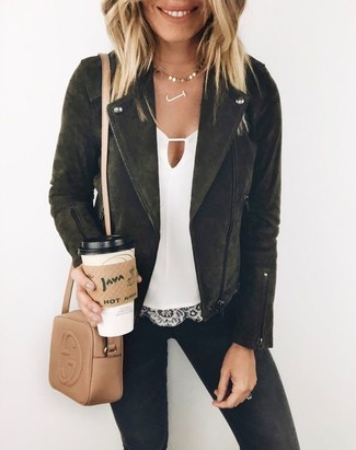 Consider pairing a black suede biker jacket with a Boohoo women's Cherri Multi Chain Statet Collar Necklace for a trendy and easy going look. Keep this ensemble in mind when warmer days are here, and we guarantee you'll save a ton of time getting ready on more than one occasion.