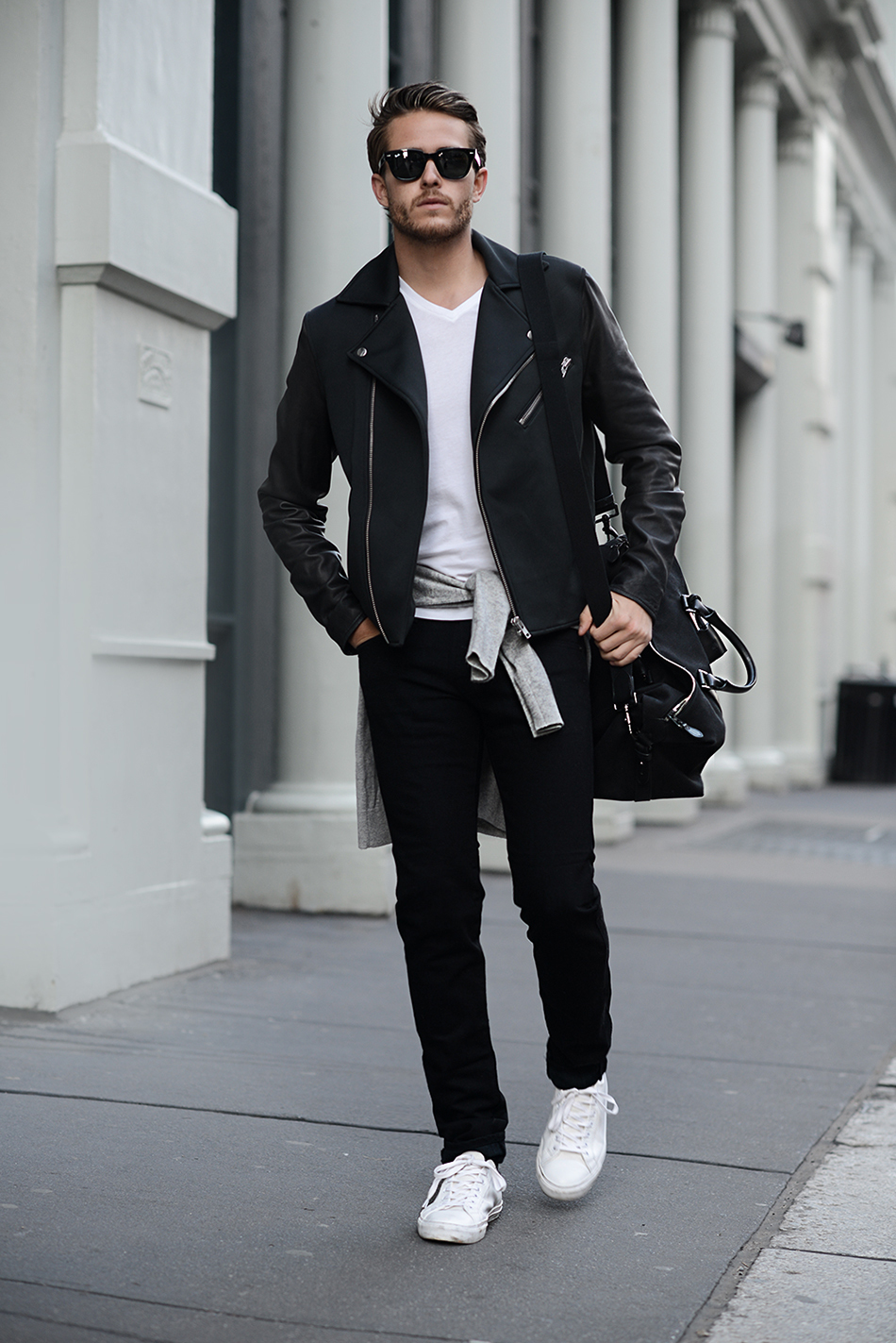 Fashion week How to white wear biker jacket for girls
