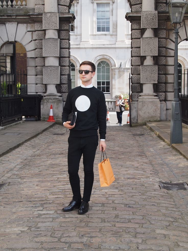 Black Chinos Outfit Jumper And Black Chinos