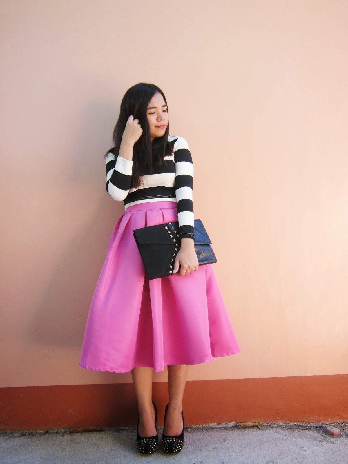 How to Wear a Hot Pink Pleated Midi Skirt (36 looks) | Women's Fashion
