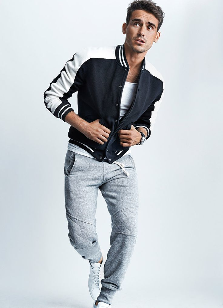 How To Wear A Varsity Jacket With A White Crew Neck T Shirt 7 Looks