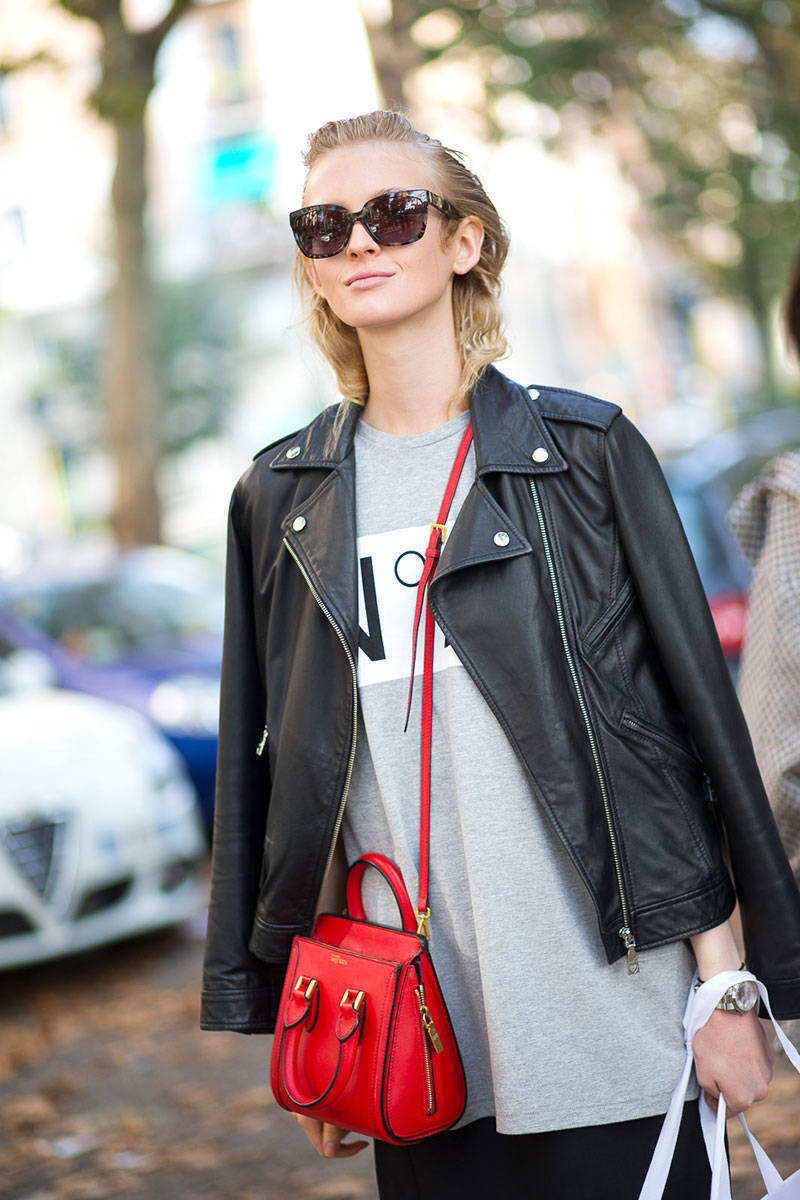 How to Wear a Red Leather Crossbody Bag (192 looks) | Women's Fashion