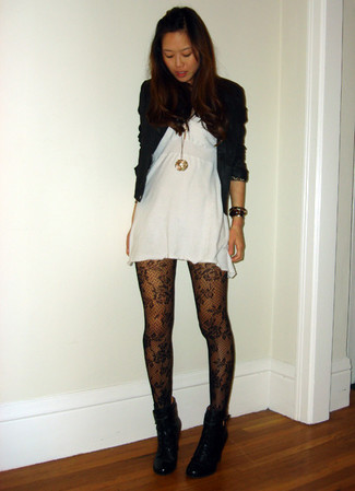 Lace Effect Tights