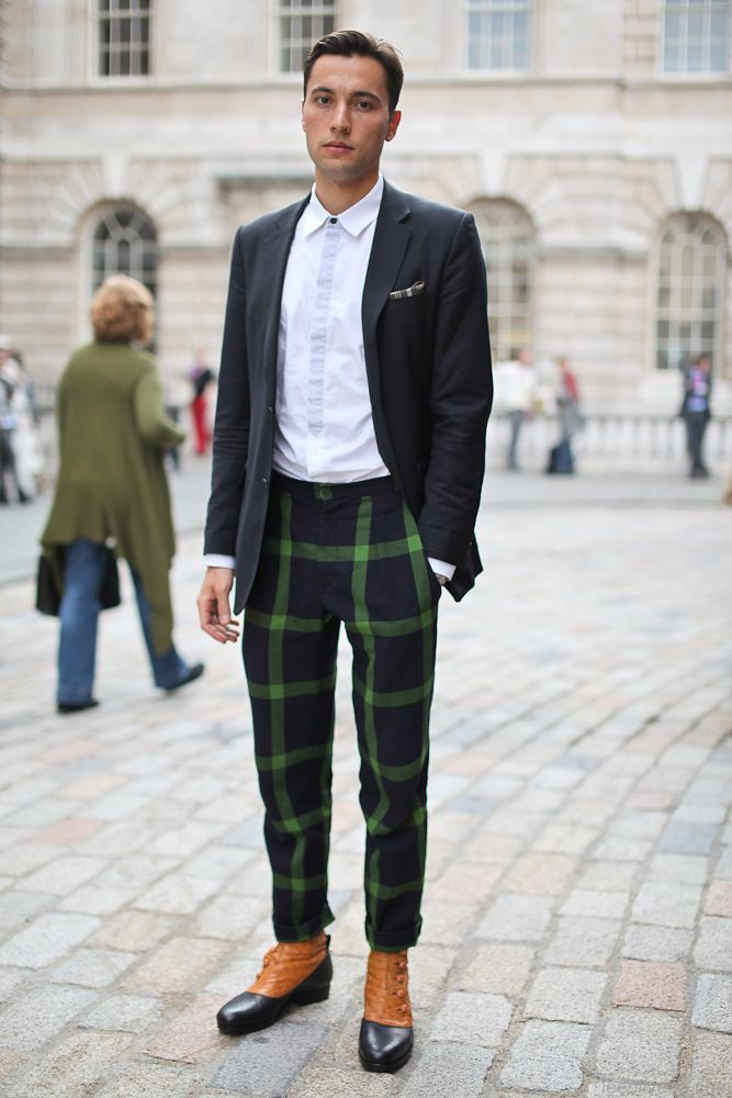 men s black blazer white long sleeve shirt black plaid dress pants