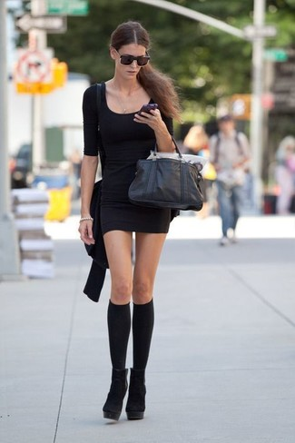 3f20c9c0b97 2 Pack Crochet Knee High Knee High Socks Shoes Favorite Unfavorite. Pair a  black bodycon dress ...