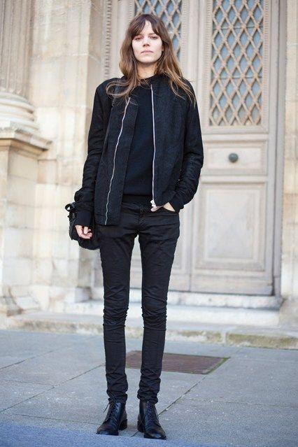 How to Wear a Black Bomber Jacket (135 looks) | Women's Fashion
