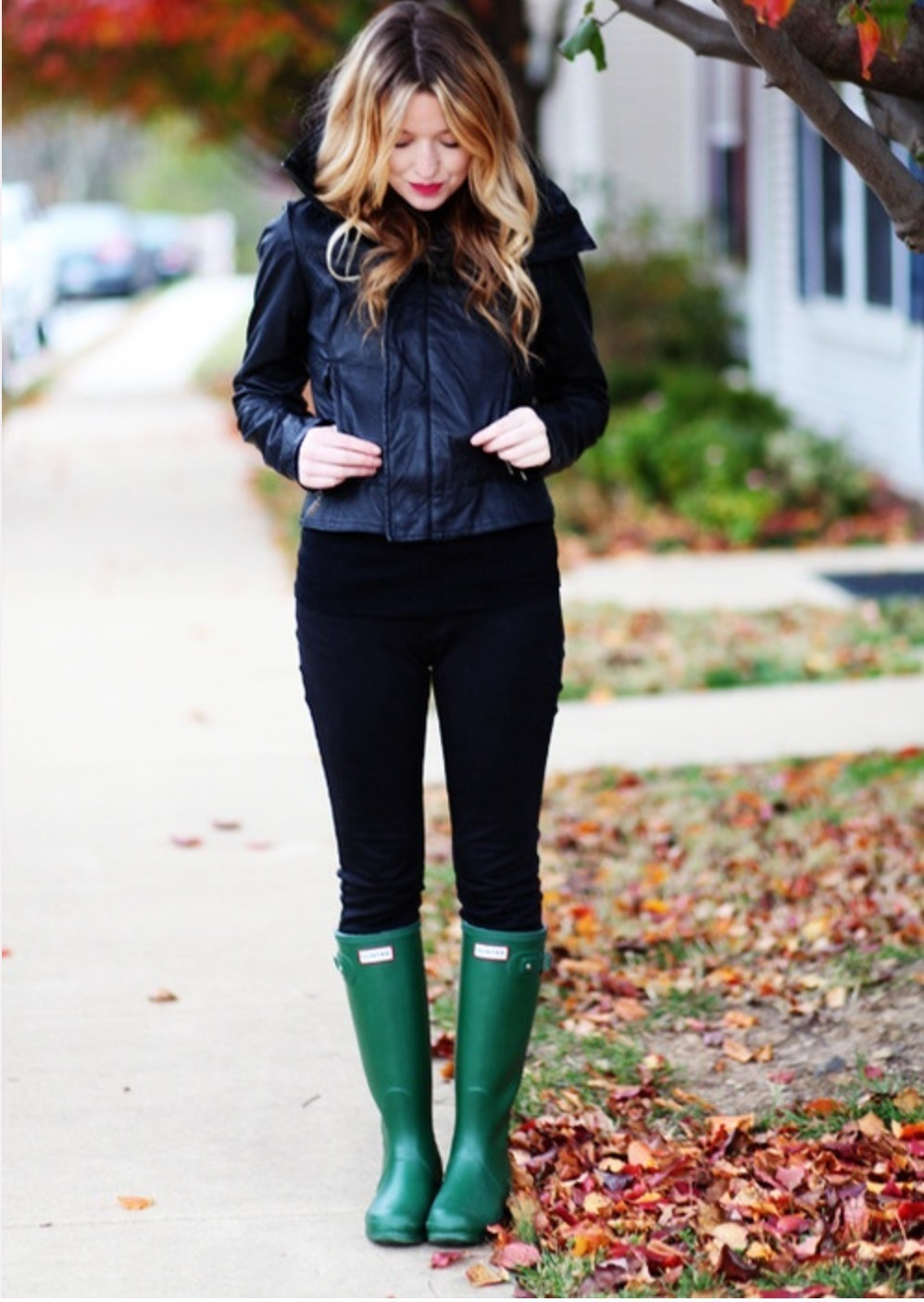 Dark Green Rain Boots | Women's Fashion
