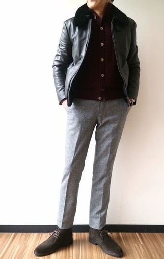Tic Weave Super 100s Wool Trousers