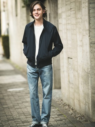 How To Wear A Black Bomber Jacket 222 Looks Outfits Men S Fashion