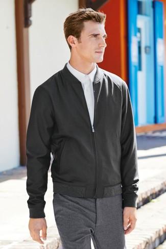 Genesis Flat Front Wool Trousers