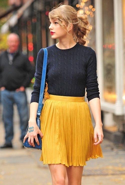 Mustard Mini Skirt | Women's Fashion