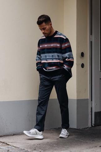 Black Glitter Monogram Sweater