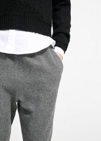 Pintuck Wool Blend Trousers