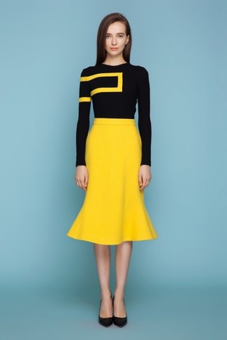 Yellow Pencil Skirt | Women's Fashion