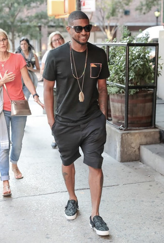 black shorts style men