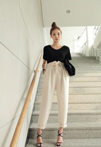 6 Moncler Noir Kei Ninomiya Black Lace Up T Shirt