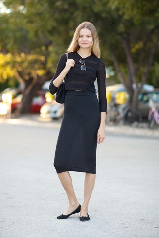 Phoebe Back Zip Midi Skirt