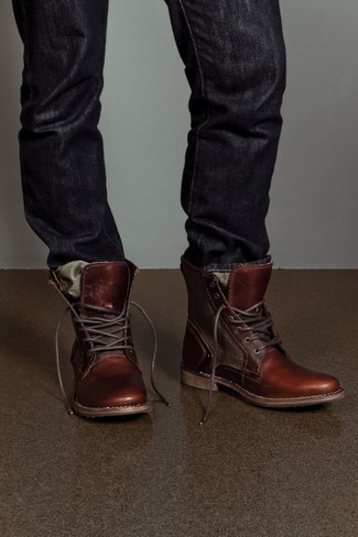 f38c7366bf6 Men's Black Jeans, Brown Leather Casual Boots | Men's Fashion ...