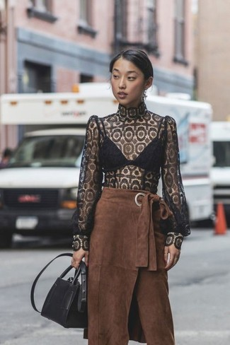 How to Wear a Brown Midi Skirt (11 looks) | Women's Fashion