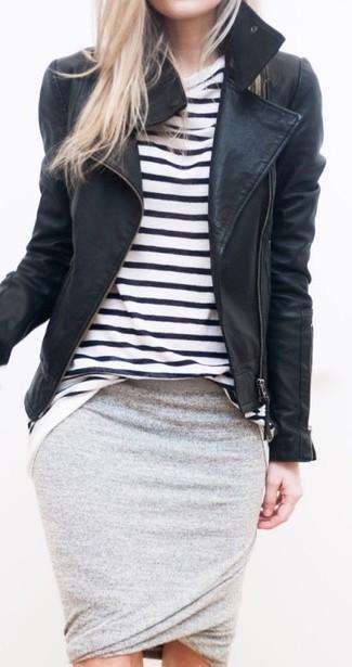 Herms Silk Pencil Skirt