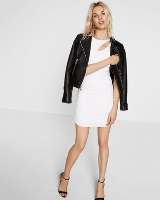3385e3bd77c Missguided Fay Cut Out V Neck Bodycon Dress White