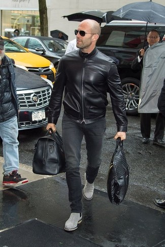 Acne S Black Leather Lazlo Jacket