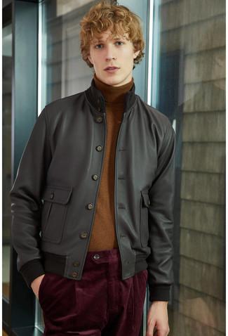 Black Leather V Racer 20 Jacket