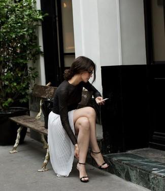 Silk Long Sleeve Blouse Black