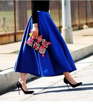 Mm6 By Pleated Maxi Skirt