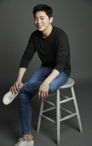 Black Pocket Long Sleeve T Shirt