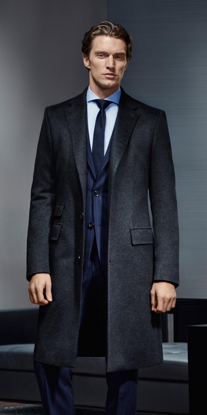 Black coat blue suit dress yy for Navy suit black shirt