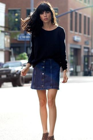 Refuge Denim Mini Skirt