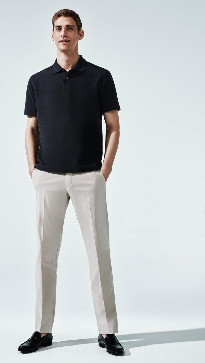 Which Polo To Wear With Beige Dress Pants 2 Looks Outfits