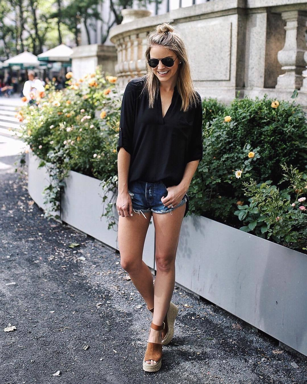 Fashion week How to wedge wear sandals with shorts for lady