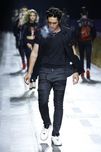 Black Crew Neck T Shirt Outfits For Men 1200 Ideas Outfits Lookastic