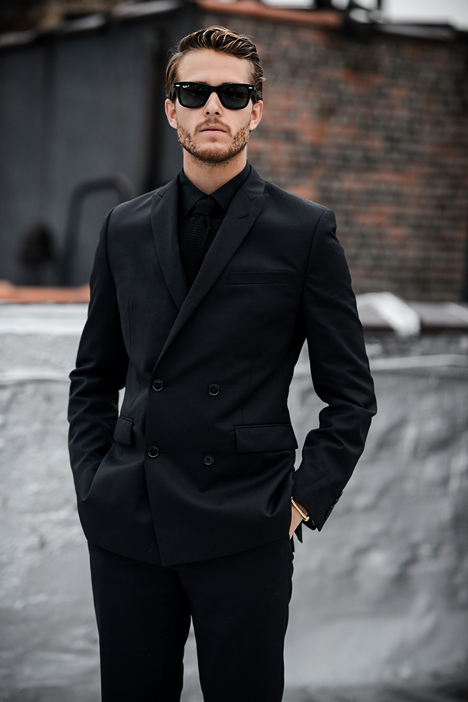 Dress shirt with black suit dress yy for Black suit with black shirt and tie