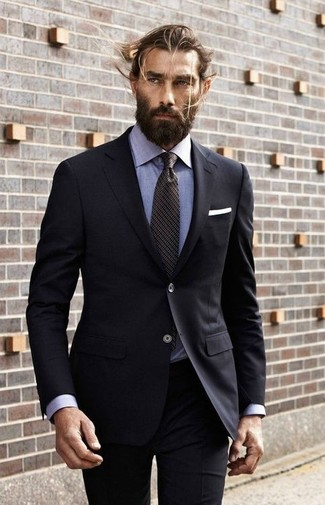 How To Wear a Black Suit With a Light Blue Dress Shirt | Men's Fashion