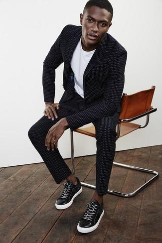 Black Peak Lapel Slim Fit Tuxedo, $650