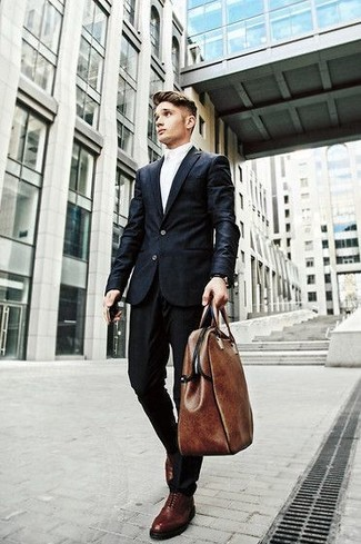 Brown bag with black suit dress yy for Black suit burgundy shirt