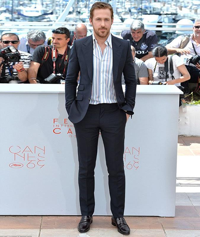 655ecaed40a Ryan Gosling wearing Black Suit