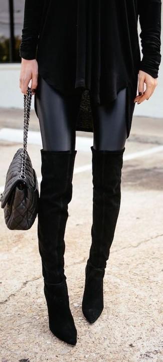 Faux Leather Moto Leggings