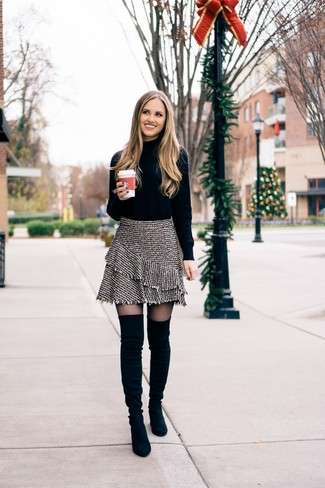 Fringed Roll Neck Sweater