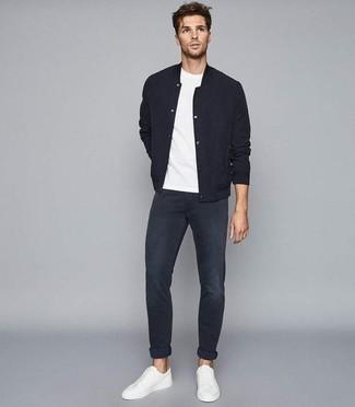 Vintage Slim Fit Raw Jeans