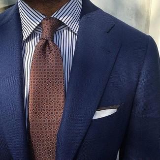 Corbata a lunares marrón de Dolce & Gabbana